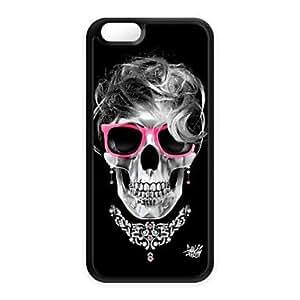 Cubierta Posterior - Calavera - para iPhone 6 ( Negro , Plástico )