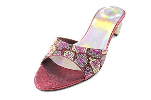 pink UK maroon Wear pour Sandales black Rouge amp; Walk Bordeaux femme q88xU6Tw
