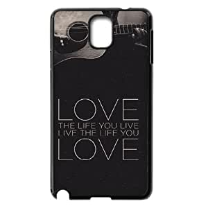 DIY Love the Life You Live Phone Case, DIY Case Cover for samsung galaxy note 3 n9000 with Love the Life You Live (Pattern-4)