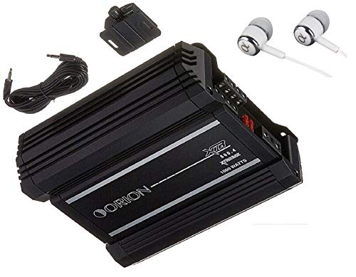 Orion XTR500.4 XTR Series 500 Watts RMS 4-Channel Bridgeable Xtreme Amp Class AB Stereo High Performance Car Amplifier with FREE Alphasonik Earbuds