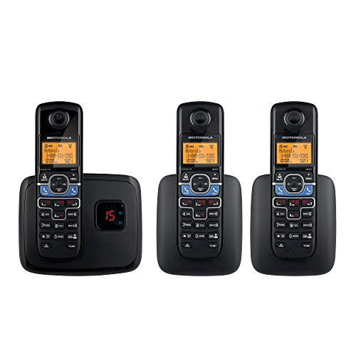 Motorola DECT 6.0 Cordless Phone with 3 Handsets, Digital Answering System and Mobile Bluetooth Linking L703BT