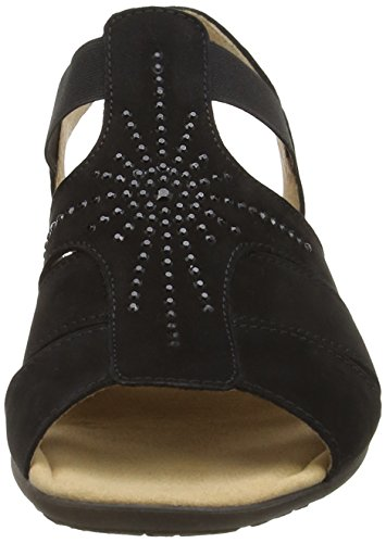 Gabor 24540 - Sandalias de vestir para mujer Black (Black Nubuck)