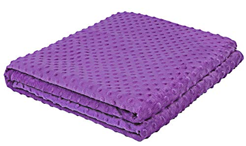 Kpblis Plush Duvet Cover for Weighted Blanket, 36 x 48, Super Soft Removable Duvet Cover, Easy Care - JUST Cover, Purple