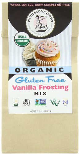 Wholesome Chow Organic Gluten Free Frosting Mix, Vanilla, 7.2 Ounce