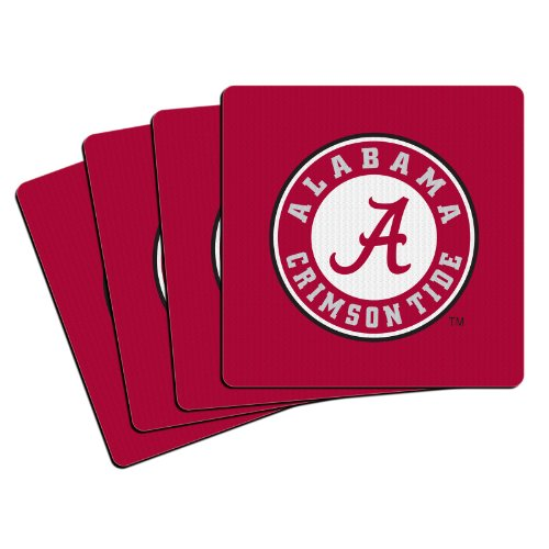 NCAA Alabama Crimson Tide Neoprene Coasters, (Alabama Crimson Tide Coaster)