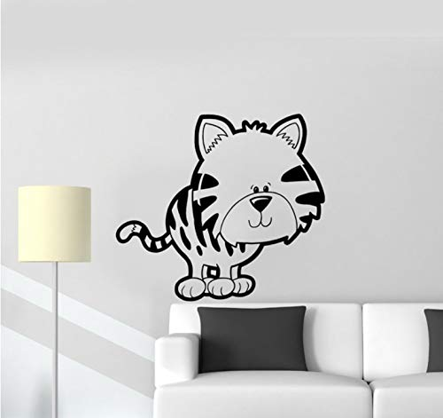 ponana Kitten Pet Toy Wall Vinyl Sticker Decal for Children Cartoon Cute Kids Room Decoration Removable Wall Stickers Living Room 62X56Cm