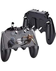 HEYSTOP PUBG Mobile Game Controller Gaming Grip, [Upgraded Version/Six-finger Operation] Triggers Handheld Verstelbare Mobiele Controller Smart Phone Gamepad voor iOS & Android Diverse Spel (4 Triggers)