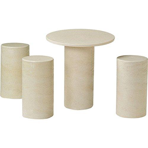 信楽焼 白カスミテーブルセット16号4点セット B00VNWI78G