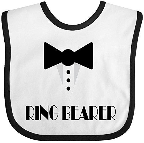 Inktastic - Ringbearer Mock Tux Wedding Tuxedo Baby Bib White/Black 223eb