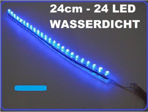 2 x Tira luces LED 24 cm de 24 LED impermeable Acuario Luz de la luna azul Auto - Hobby - Casa Y Jardín: Amazon.es: Iluminación