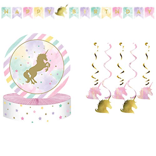(Unicorn Sparkle Party Decorations Value)