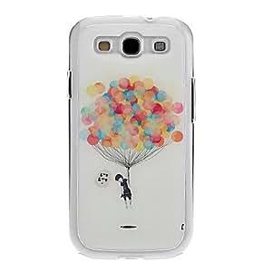 Globos de colores Dibujo Gel caso de la cubierta del patrón Neutral Stiffiness del silicón para Samsung Galaxy S3 I9300