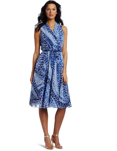Jones New York Women's Ggt Circle Flare Halter Dress
