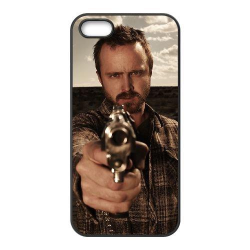 Jesse Pinkman 002 coque iPhone 5 5S cellulaire cas coque de téléphone cas téléphone cellulaire noir couvercle EOKXLLNCD24774