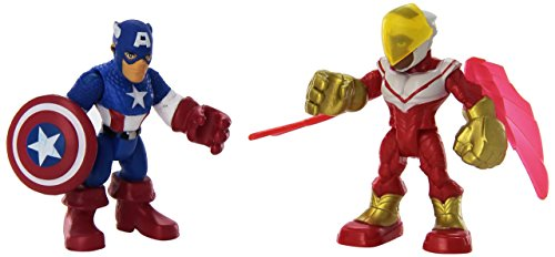 Playskool Heroes Super Hero Adventures Captain America & Marvels Falcon Toy