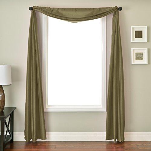 (Softline Home Fashions NETHsgrsSC Bella 6 Yard Window Scarf Seagrass)