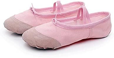 Zapatillas de ballet, de lona, para niñas y niños, de yoga, danza, transpirables