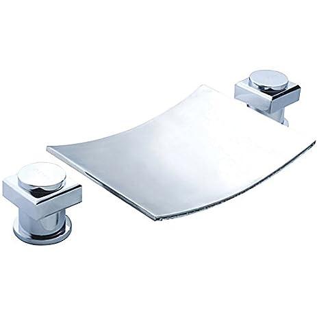 Sumerain Bathroom Sink Waterfall Faucet - Touch On Bathroom Sink ...