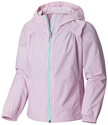 Columbia Girls' Big Switchback Rain Jacket, Pink Clover, -