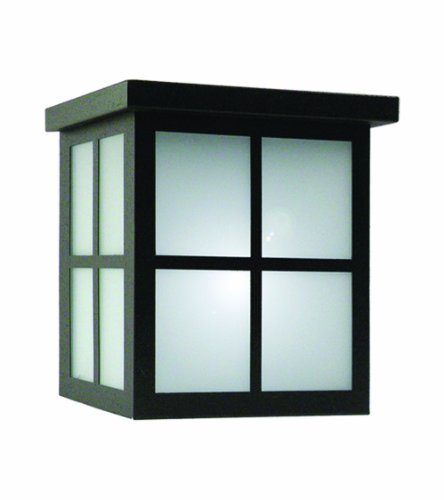 Marquis Lighting 5708-BL-F Outdoor Wall Lights with Frost Glass Shades, Black