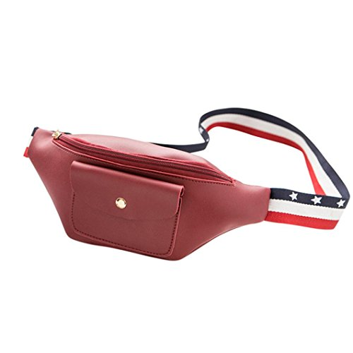 Women Pack Phone Red Zipper Color Solid Bag Chest Pack Women Fanny Bag Mamum Vertical Fashion Zipper Waist Chest Ladies Solid Bag rwXqra