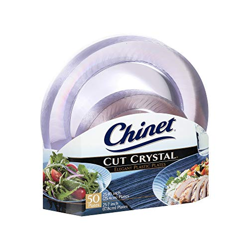 An Item of Chinet Cut Crystal Combo Plates (50 ct. - 25 dinner plates and 25 desert plates) - Pack of 1 ()