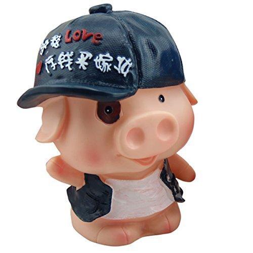 かわいい帽子豚型貯金箱ウェディングXmasクリスマス誕生日バレンタインギフト   B014MJXNVM