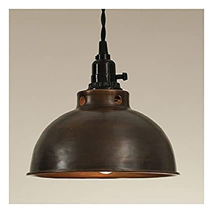 Dome pendant lamp in aged copper amazon dome pendant lamp in aged copper aloadofball Images