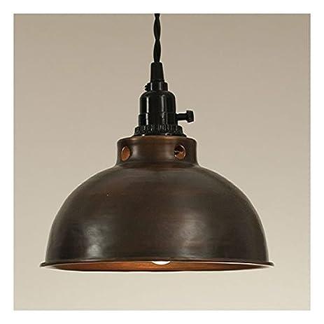 Dome pendant lamp in aged copper amazon dome pendant lamp in aged copper aloadofball Gallery