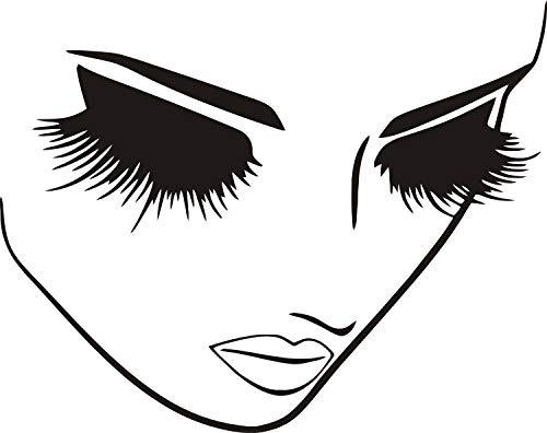 Fashion Removable Beauty Lashes Eyes Wall Decal Women Face Spa Salon Decor Sticker Home Decor Bedroom Art Vinyl Wall Sticker A-94 (Black) by YOYOYU ART HOME DECOR (Image #4)