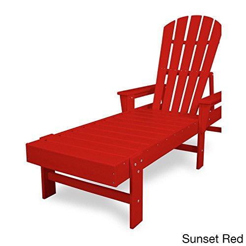 POLYWOOD SBC76SR South Beach Chaise, Sunset Red (Set Lounge Polywood)