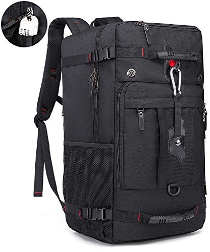 KAKA Travel Backpack 50L, Carry-On Bag Water Resistant High Capacity Weekender Backpack Rucksack for Men Women (Larger)