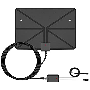 TV Antenna Amplified 60Miles Indoor - Vintv Upgrade HDTV Antenna Digital Indoor Antenna with Detachable Signal Booster VHF UHF High Gain Channels Reception For 4K 1080P Free TV with 12ft Coax Cable