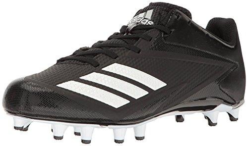 adidas Men's Freak X Carbon Mid Football Shoe, Black/White/Metallic Silver, 9.5 Medium (Football Metallic Heels)