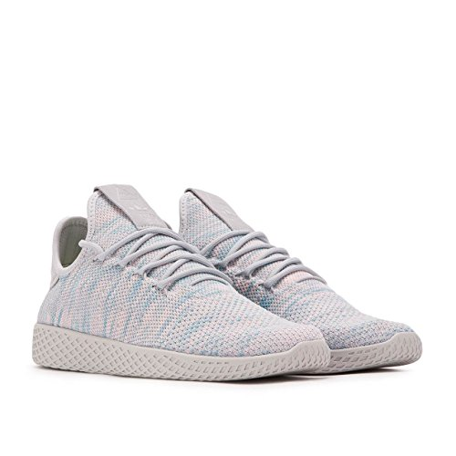 48d8d6806 hot sale 2017 adidas Men s Pharrell Williams Tennis HU Blue Pink Light Grey  BY2671