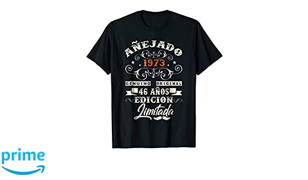 Amazon.com: Camiseta Cumpleanos 46 T-Shirt 1973 46 Anos ...