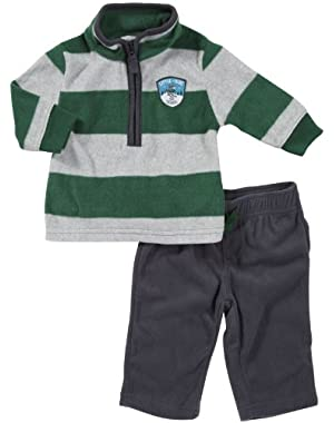 Carter's Baby Boys' L/S Microfleece Pant Set