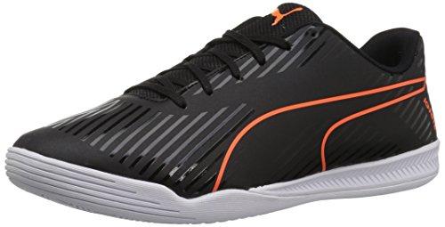 PUMA Mens Evospeed Star S2 Ignite Soccer Shoe Puma Black-shocking Orange-quiet Shade-puma White Veu0Or