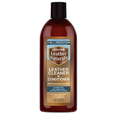 Leather Naturals Cleaner With Conditioner - The Ultimate Leather Cleaner With Lanolin Protection - Works Best For Furniture, Purses, Car Seats, Handbags, Shoes, Sofa, Boots & Leather Apparel - No Sticky Feel