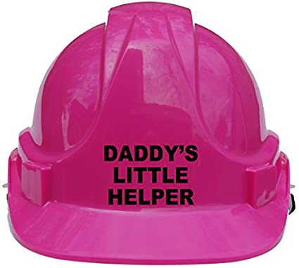 Daddy's Little Helper Children, Kids Hard Hat Safety Helmet with Chin Strap One Size Adjustable Suitable for 4-12 Years -Blue Acce Products