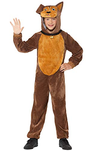 Brown Dog Children's Costume with Hooded Jumpsuit and Collar, Medium ()