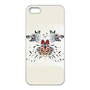 Special Design Cases iPhone 5, 5S Cell Phone Case White Princess Mononoke Ikebt Durable Rubber Cover