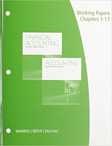 Amazon com: Working Papers, Chapters 1-17 for Warren/Reeve/Duchac's