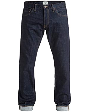Men's Revolver Rinse 32 in. Straight Fit Jeans and HDO Travel Sunscreen (15 SPF) Spray Bundle