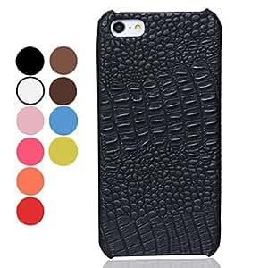Procesamiento de dos días -Caso del patrón del color sólido de cocodrilo pu cuero duro para el iphone 5/5s (colores surtidos),Red