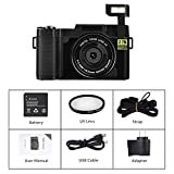 Seree Digital Camera Camcorder WiFi Vlogging Camera 2.7K Ultra HD 24MP Video Camcorders Vlogging Camera with Retractable Flash Light and UV Lens