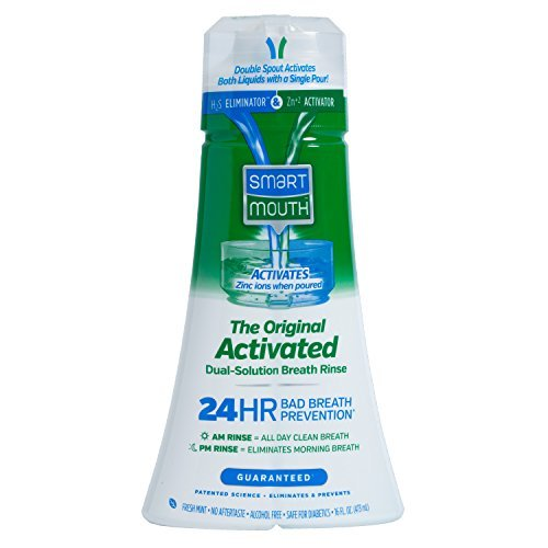 Rinse Dual (SmartMouth Original Activated Mouthwash for 24 Hour Fresh Breath, Dual-Solution Oral Rinse, 16 ounce, 1 Pack)