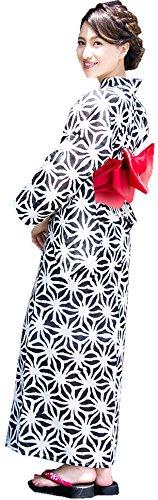 送る幸運な可動式(ディータ) Dita レディース 本格 女性 浴衣 すぐにお出かけフルセット 2017年デザイン 浴衣本体(ゆかた)?帯(平帯)?下駄(ゲタ)の3点セット+着付けスタイルブック(冊子)の計4点 FREE(フリーサイズ)
