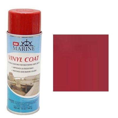 SEM M25233 Marine Formula Boats Red Vinyl Coat Vinyl and Plastic Repair Coating for Marine Vinyl