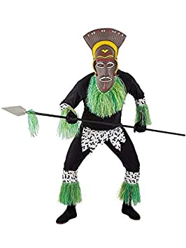 DISBACANAL Disfraz de Africano para Hombre - Único, L ...